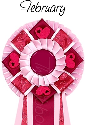 Ribbon of the month - February