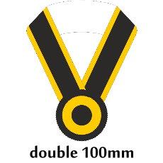 Sashe double/Schärpe doppelt 100mm