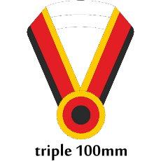 Sashe triple/Schärpe dreifach 100mm