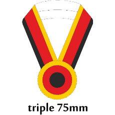 Sashe triple/Schärpe dreifach 75mm